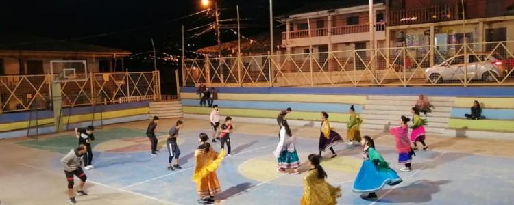 EL GOBIERNO PARROQUIAL RESCATANDO LAS MANIFESTACIONES CULTURALES CON EL GRUPO BALLET UCHIMA.